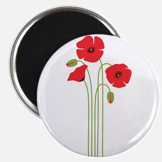 Poppy Flower Magnets