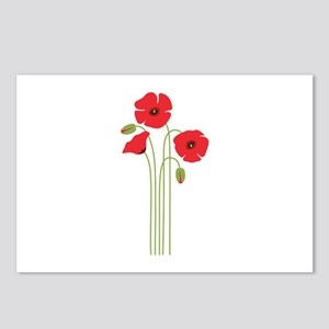 Poppy Flower Postcards (Package of 8)