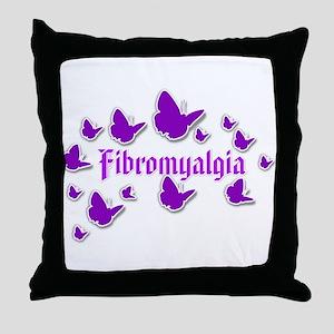 FIBROMYALGIA BUTTERFLIES 4 Throw Pillow