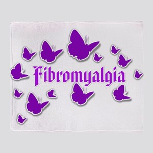 FIBROMYALGIA BUTTERFLIES 4 Throw Blanket