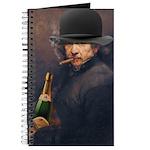 Derby hat, cigar & champagne Rembrandt Journal
