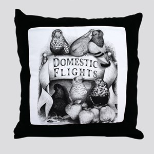 Big Apple Flight Pigeons Throw Pillow