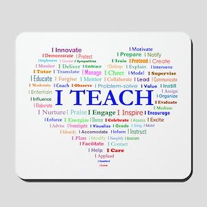 Big Hearted Teacher Mousepad