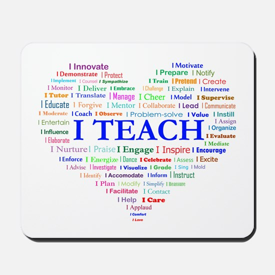 Big Hearted Teacher Mousepad