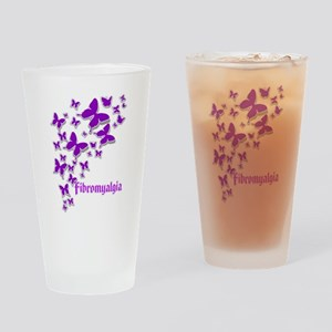 FIBROMYALGIA BUTTERFLIES 2 Drinking Glass