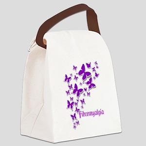 FIBROMYALGIA BUTTERFLIES 2 Canvas Lunch Bag