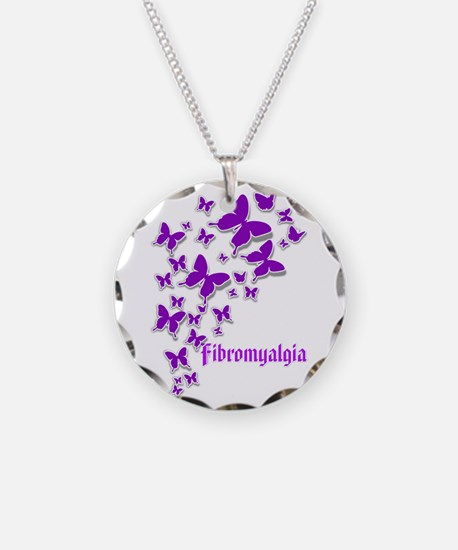 Fibromyalgia Butterflies 2 Necklace