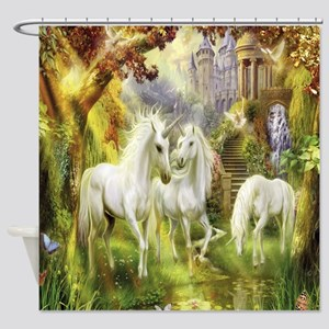 Beautiful Unicorns Shower Curtain