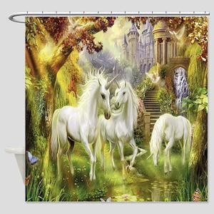Beautiful Unicorns Shower Curtain