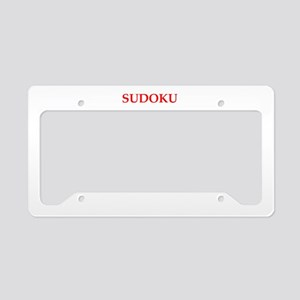 sudoku License Plate Holder