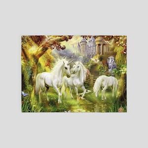 Beautiful Unicorns 5'x7'Area Rug