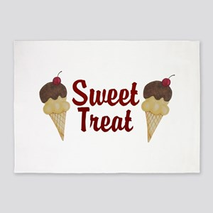 Sweet Treat Ice Cream Cones 5'x7'Area Rug