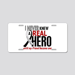 Carcinoid Cancer Real Hero Aluminum License Plate