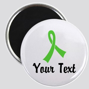 """Personalized Lime Green Rib 2.25"""" Magnet (10 pack)"""