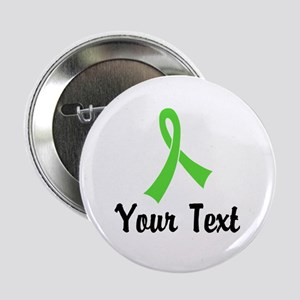 "Personalized Lime Green Rib 2.25"" Button"