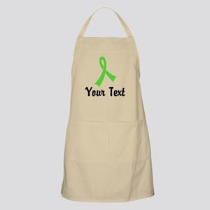 Personalized Lime Green Ribbon Awareness Apron