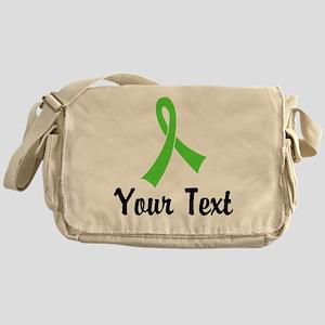 Personalized Lime Green Ribbon Aware Messenger Bag