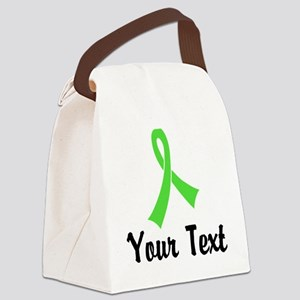 Personalized Lime Green Ribbon Aw Canvas Lunch Bag