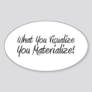 Visualize and Materialize Oval Sticker
