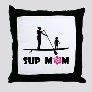 SUP_MOM Throw Pillow