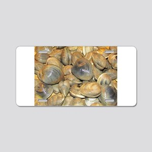 Clams Aluminum License Plate