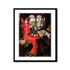 Lady & Cavalier (BT) Framed Panel Print