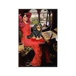 Lady & Cavalier (BT) Rectangle Magnet
