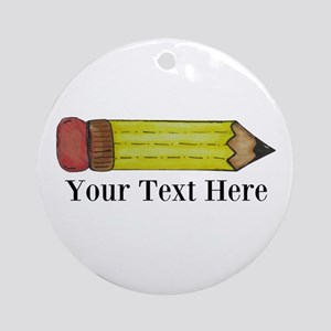 Personalizable Pencil Ornament (Round)
