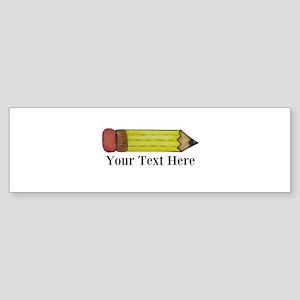 Personalizable Pencil Bumper Sticker