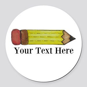 Personalizable Pencil Round Car Magnet