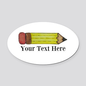 Personalizable Pencil Oval Car Magnet