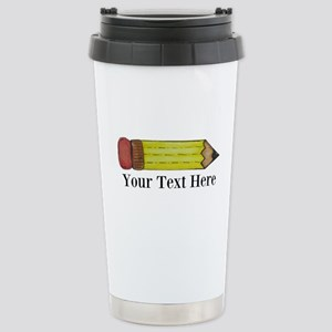 Personalizable Pencil Travel Mug