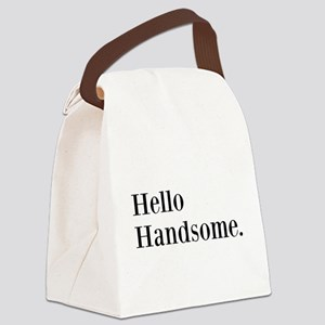 Hello Handsome Canvas Lunch Bag