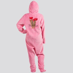 Personalizable Tulips Footed Pajamas