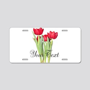 Personalizable Tulips Aluminum License Plate