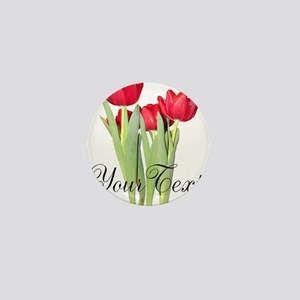 Personalizable Tulips Mini Button