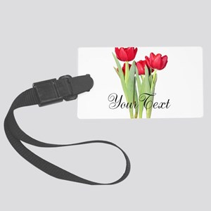 Personalizable Tulips Luggage Tag