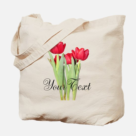 Personalizable Tulips Tote Bag