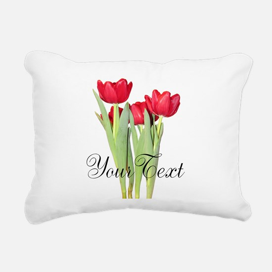 Personalizable Tulips Rectangular Canvas Pillow