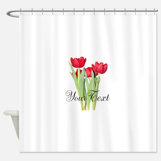Personalizable Tulips Shower Curtain
