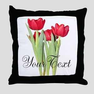 Personalizable Tulips Throw Pillow