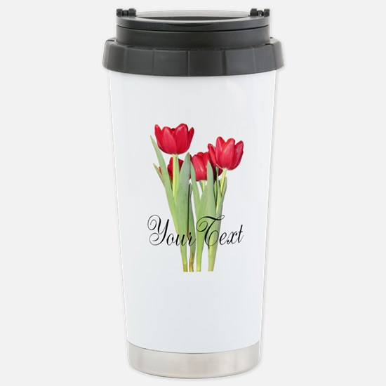 Personalizable Tulips Travel Mug