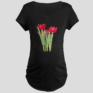 Personalizable Tulips Maternity T-Shirt