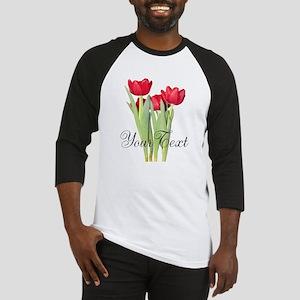 Personalizable Tulips Baseball Jersey