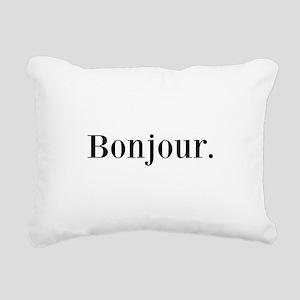 Bonjour Rectangular Canvas Pillow