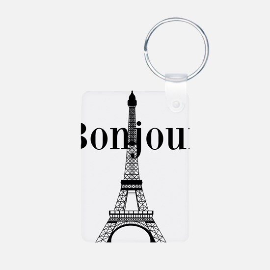 Bonjour Eiffel Tower Keychains