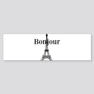Bonjour Eiffel Tower Bumper Sticker