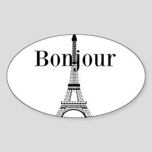 Bonjour Eiffel Tower Sticker