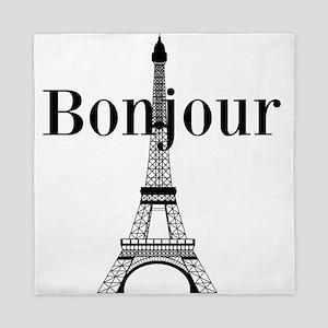 Bonjour Eiffel Tower Queen Duvet