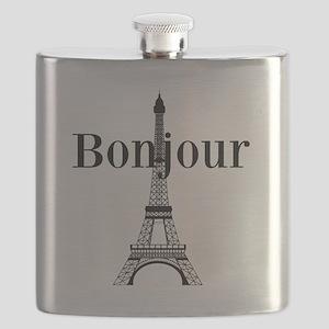 Bonjour Eiffel Tower Flask